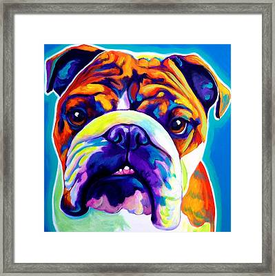 Bulldog - Bond -square Framed Print by Alicia VanNoy Call