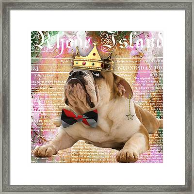English Bulldog Bowtie Collection Framed Print by Marvin Blaine