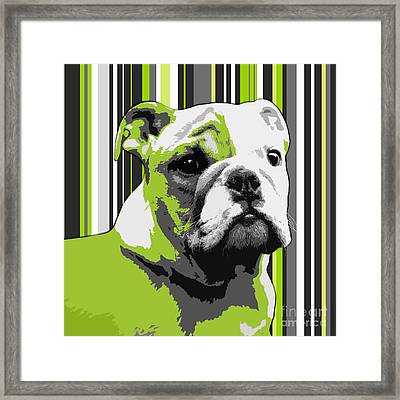 English Bulldog Puppy Abstract Framed Print by Natalie Kinnear