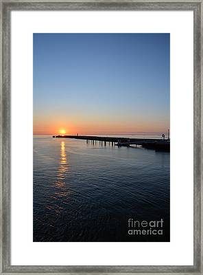 English Channel Sunset Framed Print