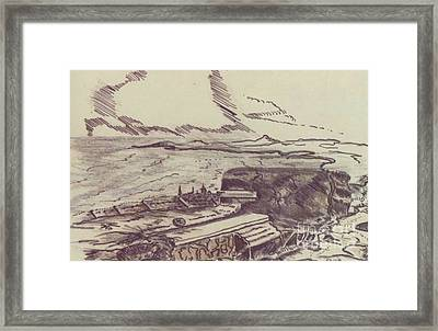English Channel Ww II Framed Print