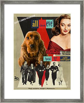 English Cocker Spaniel Art - All About Eve Framed Print