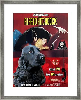 English Cocker Spaniel Art - Dial M For Murder Framed Print by Sandra Sij