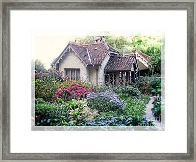 English Cottage Garden Framed Print by Edward Fielding