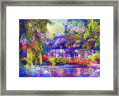 English Cottage Framed Print by Jane Small
