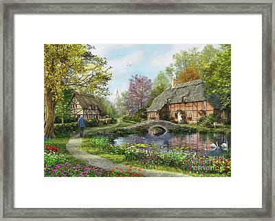 English Cottage Framed Print by MGL Meiklejohn Graphics Licensing