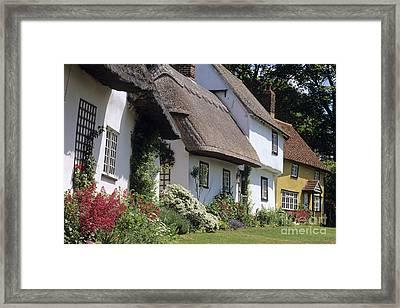 English Cottages Framed Print by Derek Croucher