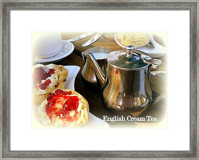 English Cream Tea Framed Print