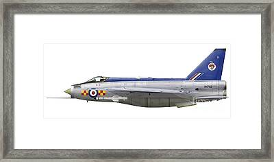 English Electric Lightning F2 Framed Print by Inkworm