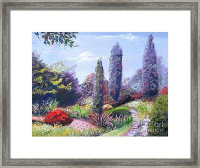 Framed Print featuring the painting English Estate Gardens by Marcia Dutton
