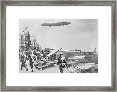 English Fleet Off Ostend Framed Print