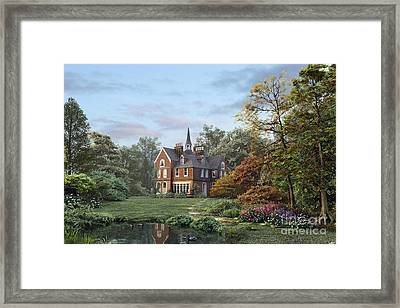 English Garden Framed Print by Dominic Davison