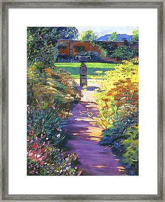 English Garden Urn Framed Print