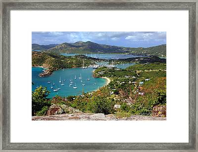 English Harbor View Framed Print by Sophie Vigneault