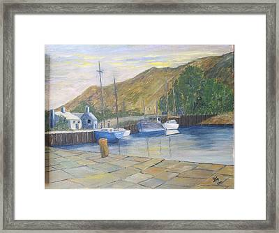 English Harbour Framed Print