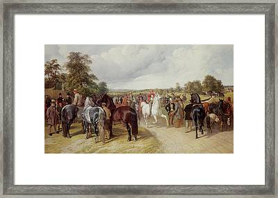 English Horse Fair On Southborough Common Framed Print by John Frederick Herring Snr