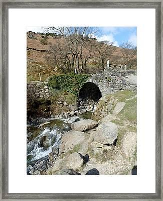 English Lakes And Waterfalls Framed Print by Julie Koretz