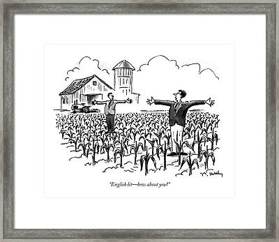 English Lit - How About You? Framed Print by Mike Twohy