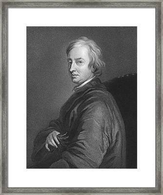 English Poet John Dryden Framed Print by C.E. Wagstaff