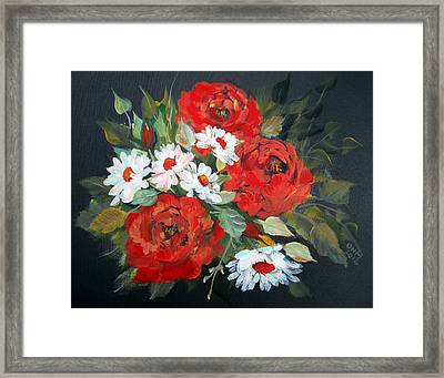 English Roses Framed Print