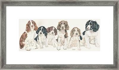 English Springer Spaniel Puppies Framed Print