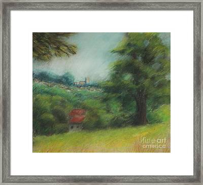 English Summer Landscape  Framed Print by Ewa Hearfield