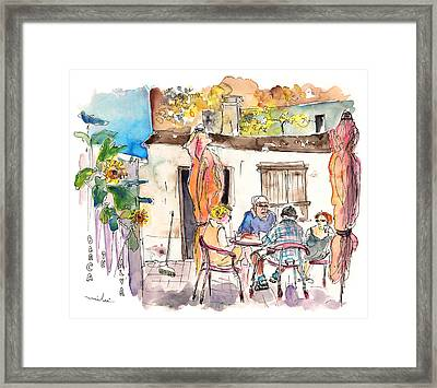 English Tourists In Barca De Alva In Portugal Framed Print by Miki De Goodaboom