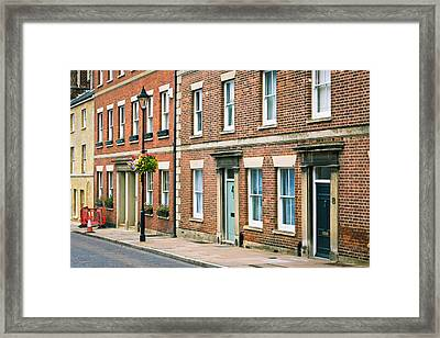 English Town Houses Framed Print by Tom Gowanlock