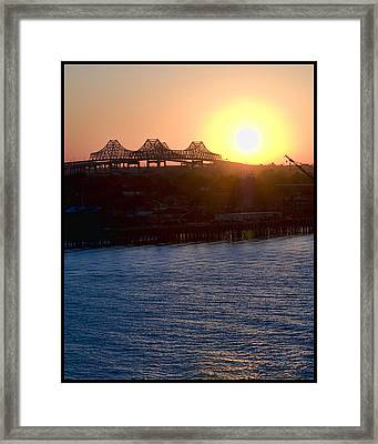 English Turn Sunset In New Orleans Framed Print by Ray Devlin
