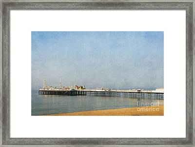 English Victorian Seaside Pier - Textured Framed Print