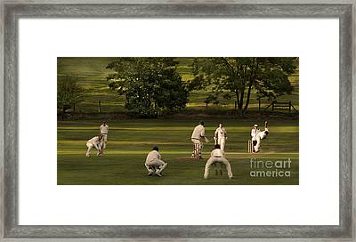 English Village Cricket Framed Print