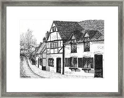 English Village Framed Print by Shirley Miller