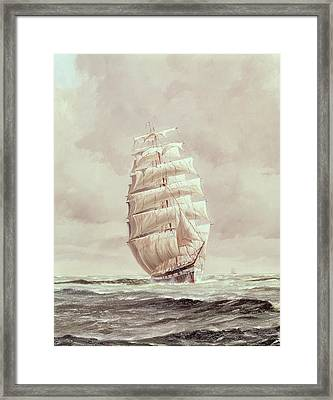 English Wool Clipper Framed Print by Anonymous