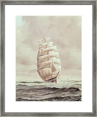 English Wool Clipper Framed Print