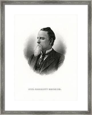 Engraved Portrait Of Rep Marriott H Brosius Framed Print