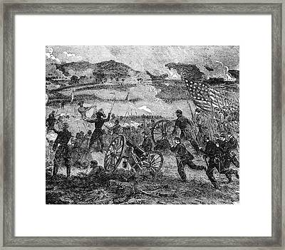 Engraving Of General Pickett Framed Print