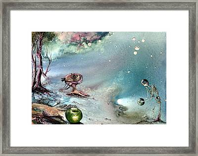 Framed Print featuring the painting Enigma by Mikhail Savchenko
