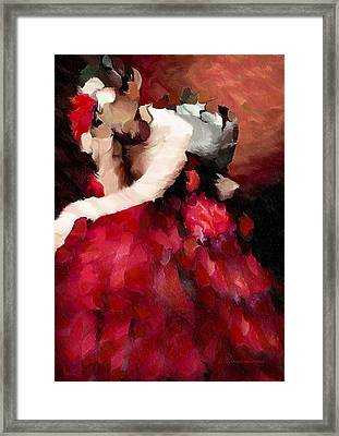 Enigma Of A Geisha - Abstract Realism Framed Print