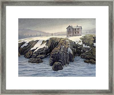 Enigma On The Shore Framed Print by Paul Krapf