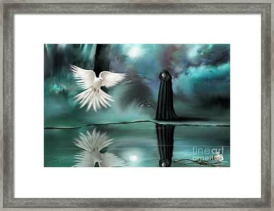 Framed Print featuring the painting Enigma by S G