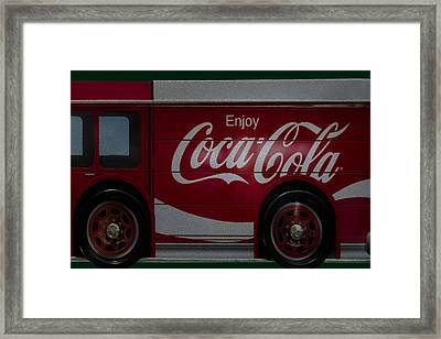 Enjoy Coca Cola Framed Print by Susan Candelario