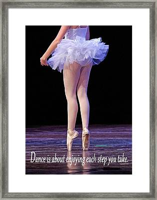 Enjoy Each Step You Take Framed Print by Thomas Fouch