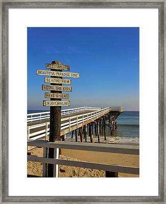 Enjoy Malibu Framed Print