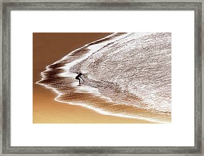 Enjoy Seawater Framed Print