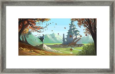 Enjoy The Breeze Framed Print by Pat Piper