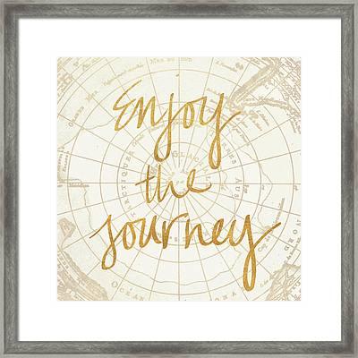 Enjoy The Journey Framed Print