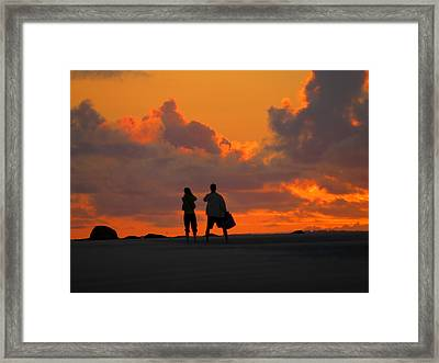 Enjoy The Moment Framed Print by Dianne Cowen
