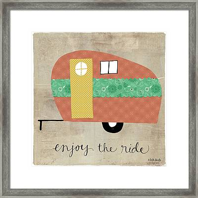 Enjoy The Ride Framed Print by Katie Doucette