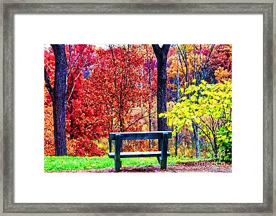 Enjoy The View Framed Print by Gena Weiser