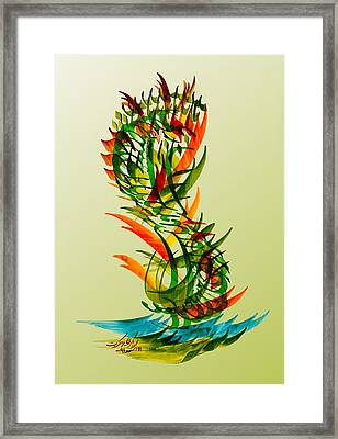Enjoy Your Life Framed Print by Mah FineArt